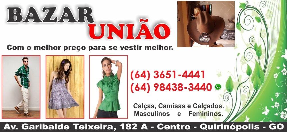 4e2c73426 BAZAR UNIÃO - LOJA DE ROUPAS EM QUIRINÓPOLIS